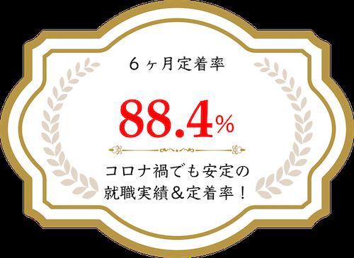 6ヶ月定着率 91.6% 全国トップレベルの就職実績&定着率!